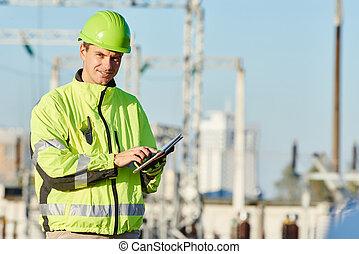 byggmästare, konstruktion sajt, ingenjör