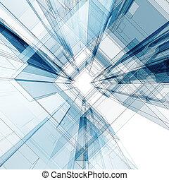 byggnad, abstrakt föreställning
