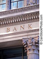 byggnad, bank