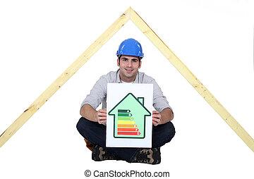 byggnad, energi, besparing, industri
