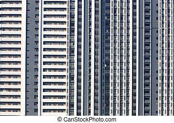 byggnad, jättestor, lägenhet