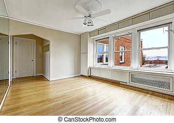 byggnad, lägenhet, gammal, bostads, i centrum, inre, tom