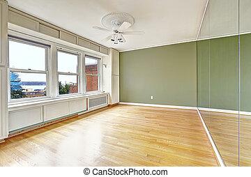 byggnad, lägenhet, gammal, vi, vik, bostads, inre, tom