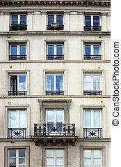 byggnad, lägenhet, parisare