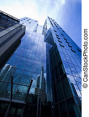 byggnad, modern affär