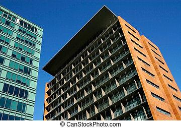 byggnad, nymodig arkitektur