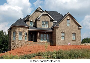 byggnad, nytt hem