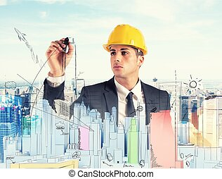 byggnad, projekt
