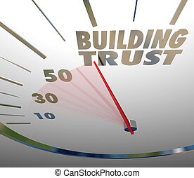 byggnad, tro, lojalitet, kund, anseende, förtroende, ...