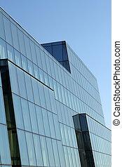 byggnad, vägg, specificera, kontor, glas