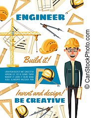 bygmester, konstruktion, erhverv, site, ingeniør