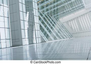 bygning, abstrakt, firma, baggrund