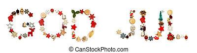 bygning, betyder, jul, farverig, gud, brev, dekoration, jul...