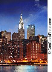 Bygning, byen,  York,  Chrysler, Nye,  Manhattan