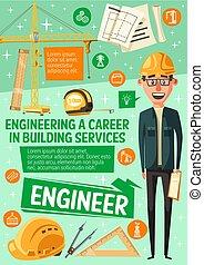bygning, hus konstruktion, tjeneste, ingeniør