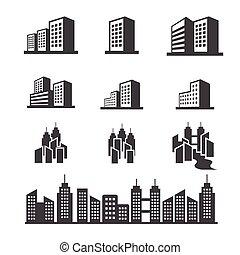 bygning, ikon