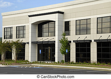 bygning, kommerciel, kontor