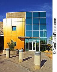 bygning, moderne, kommerciel