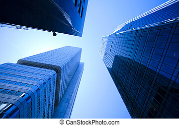 bygning, moderne, kontor