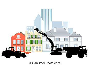 bygning, nedrivning