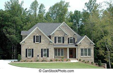 bygning, nyt hjem