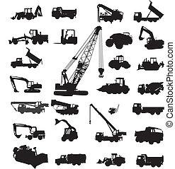 bygning, og, konstruere, udrustning