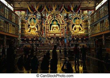 Bylajkuppe - A tibetian monastry in Karnataka India