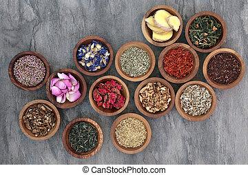bylina, vybírání, čaj