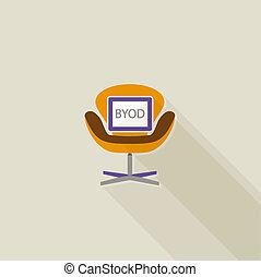 BYOD flat long shadow design