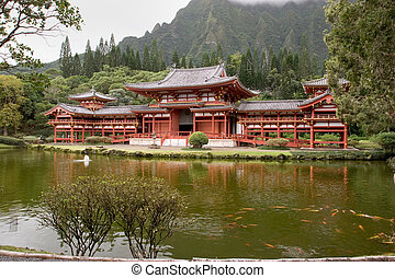 Byodo-In Temple 7 - Photo of the Byodo-In Temple on Oahu,...