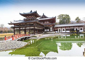 Byodoin Temple in winter season, Japan