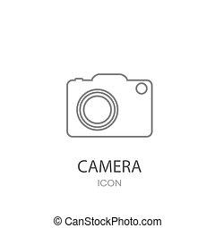 byt, icon., kamera, móda, object.
