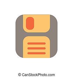 byt, ikona, retro čnělka, disketa