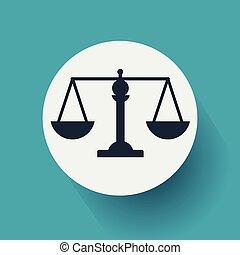 byt, měřítko, eps10, soudce, ilustrace, design, vektor, icon.