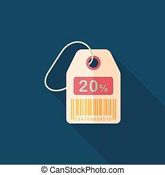 byt, nakupování, stín, cena, prodej, dlouho, jmenovka, ikona