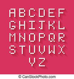 byt, pixel, abeceda