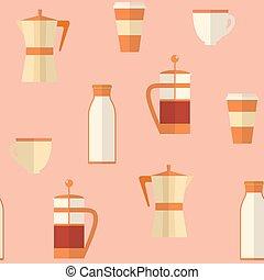 byt, seamless, model, s, zrnková káva, věc