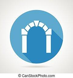 byt, vektor, ikona, jako, architektura