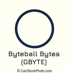 Byteball Bytes (GBYTE). Vector illustration crypt - Vector...