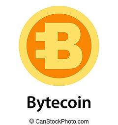 Bytecoin icon, flat style