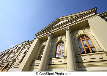 Bytom, Silesia region in Poland. Old beautiful architecture - Silesian Opera (Opera Slaska).