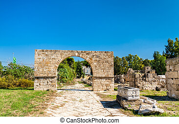 Byzantine Arch at the Al-Bass Tyre necropolis in Lebanon