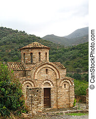 Byzantine church of the Panagia in Fodele, small village in...