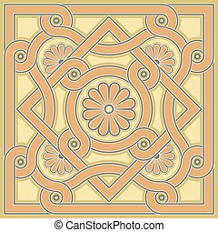Byzantine decorative rosette - Byzantine design in church...