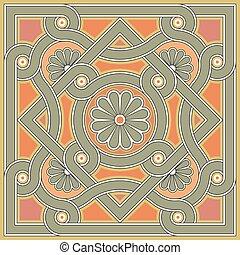 Byzantine decorative rosette - Byzantine design in church...