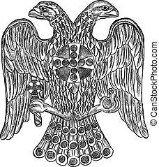 Byzantine double headed eagle. Vector illustration Eps 10