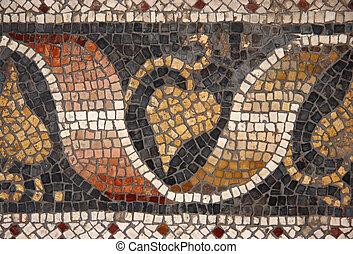 Byzantine mosaic from Great Palace Mosaic Museum, Istanbul,...