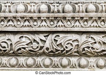 Byzantine mosaic in the interior of Hagia Sophia in Istanbul, Tu