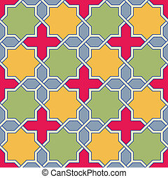 Byzantine mosaic - Multicolor Arabic Byzantine seamless...