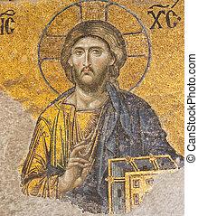 Byzantine Mosaic - Jesus Christ mosaic of byzantine era at...